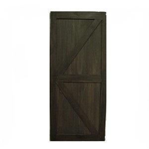 Misty Grey Southern Walnut Barn Door Single X