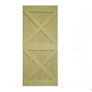 Misty White Borneo Ash Barn Door Double X