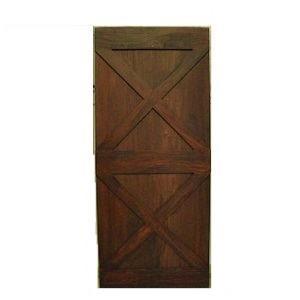Santos Mahogany Barn Door Double X