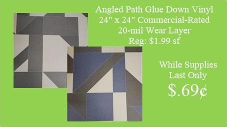 Angled Path Glue Down Vinyl