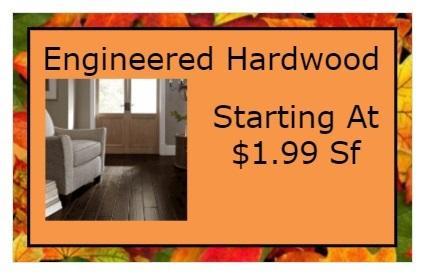 Engineered Hardwood Starting At 1.99