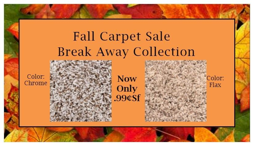Fall Carpet Sale