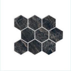 Hexagon Black Elektra Heavy Porcelain Tile
