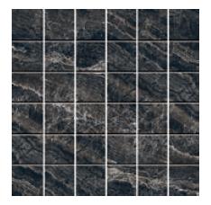 Mosaic Black Elektra Heavy Porcelain Tile